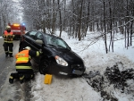 Nehoda osobního auta u Roprachtic