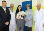 Návštěva vedení města Jilemnice u prvního občánka roku 2018 v městské nemocnici