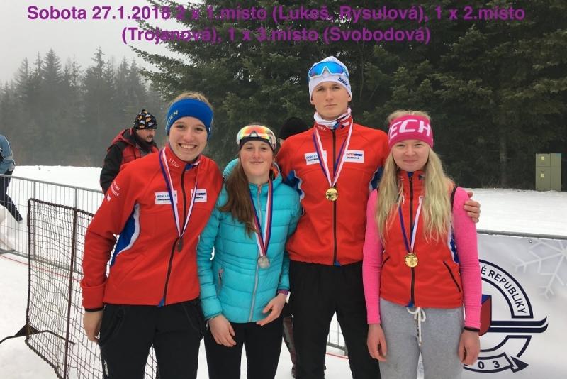 Medailisté ČKS SKI Jilemnice na Mistrovství České republiky dorostu
