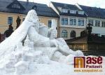 Sněhová socha Krakonoše v Jilemnici v neděli 4. 2. 2018