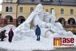Sněhová socha Krakonoše v Jilemnici v sobotu 3. 2. 2018
