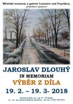 Pozvánka na výstavu Jaroslava Dlouhého