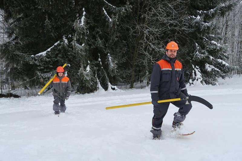 Zásahy poruchových čet Skupiny ČEZ v zimním terénu<br />Autor: Archiv ČEZ