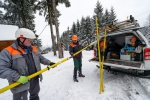 Zásahy poruchových čet Skupiny ČEZ v zimním terénu