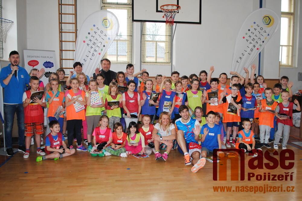 Trénink s olympionikem ve škole v Benešově u Semil<br />Autor: Petr Ježek