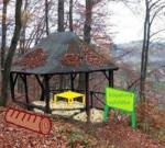 Renovace altánku Kopalova vyhlídka v novém parku