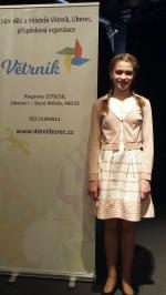 Barbora Šimůnková a Timon Drahoňovský v krajském kole soutěže v recitaci