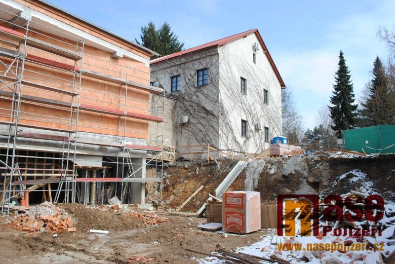 Stavba nové expozice turnovského muzea Horolezectví v březnu 2018<br />Autor: Petr Ježek
