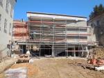 Stavba nové expozice turnovského muzea Horolezectví v dubnu 2018