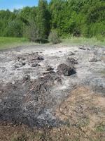 Požár čarodějnické vatry v Tatobitech