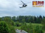 Cvičná záchrana osoby z peřimovského mostu