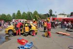 Ukázka zásahu hasičů