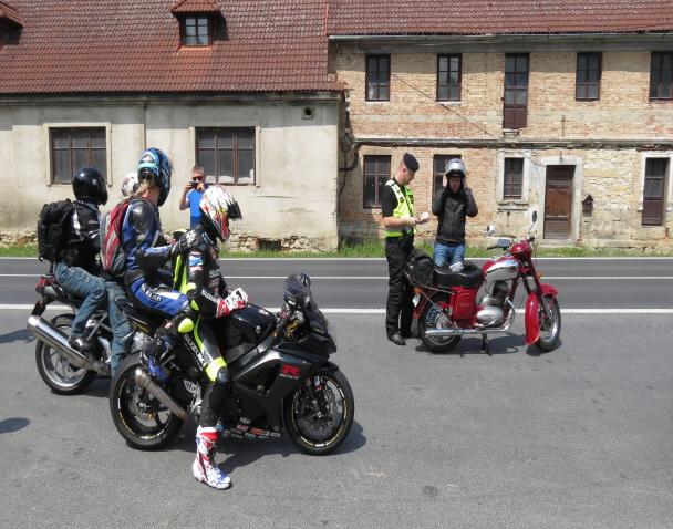 Policejní kontroly motorkářů na Českolipsku<br />Autor: Archiv Policie ČR