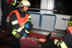 Hasičské cvičení s tématem železniční nehody v oblasti Říkovských tunelů u Semil