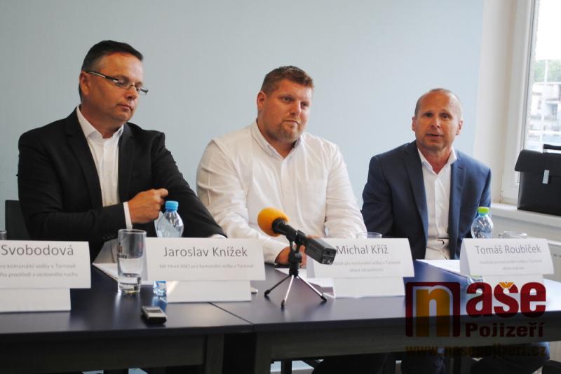 Tisková konference Hnutí ANO v Turnově<br />Autor: Petr Ježek