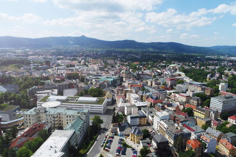 Projekt Modernizace Krajské nemocnice Liberec<br />Autor: Archiv KNL