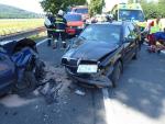 Střet dvou osobních aut v Sedmihorkách
