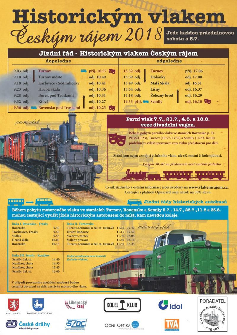 Plakát Historickým vlakem Českým rájem
