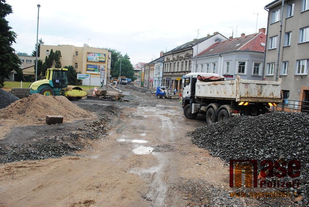 Rekonstrukce Palackého ulice v Turnově - 12. června 2018<br />Autor: Petr Ježek