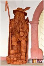 Socha pána hor Krakonoše v Jilemnici od sochaře Josef Dufka