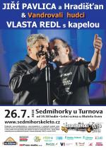 Plakát na koncert Jiřího Pavlici a Vlasty Redla
