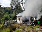 Požár včelína v obci Mařenice - Dolní Světlá