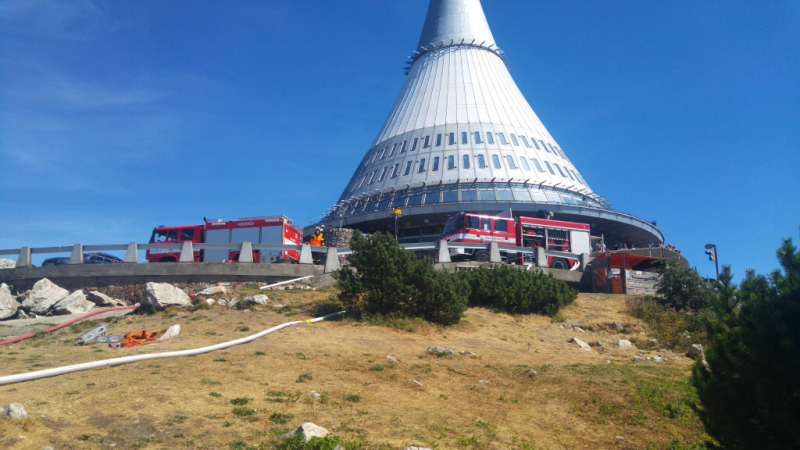Požár porostu u vysílače Ještěd v Liberci<br />Autor: HZS Libereckého kraje