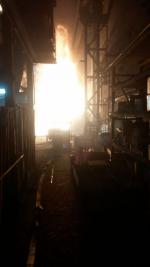 Požár pece ve slévárně v Přepeřích
