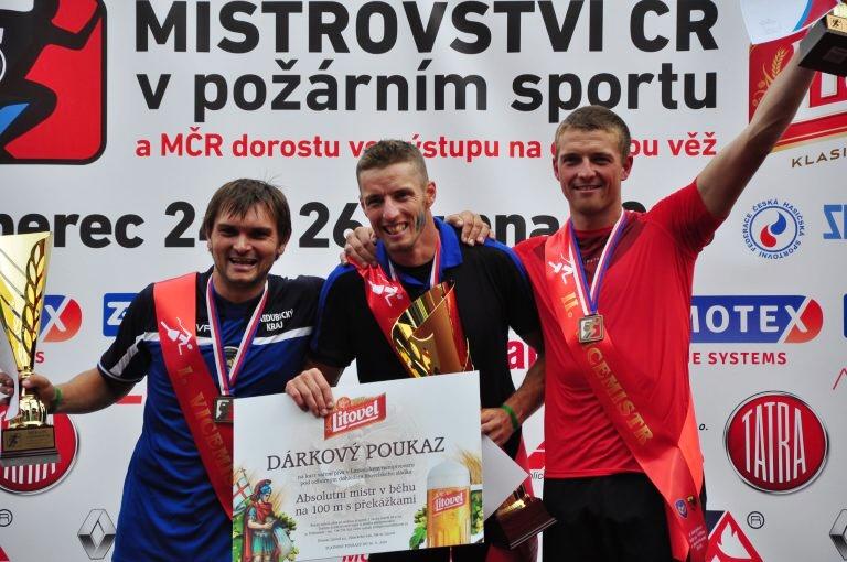 Medailisté mezi muži v běhu na 100 metrů s překážkami