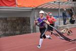 Šárka Jiroušová v běhu na 100 metrů s překážkami