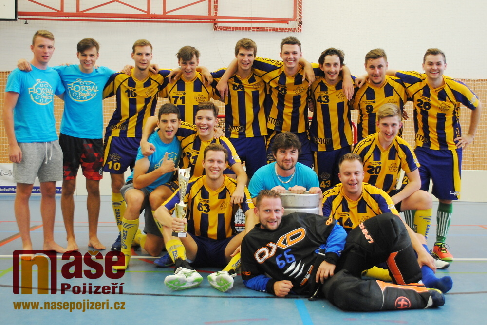 Vítězný tým SK Florbal Benešov<br />Autor: Petr Ježek