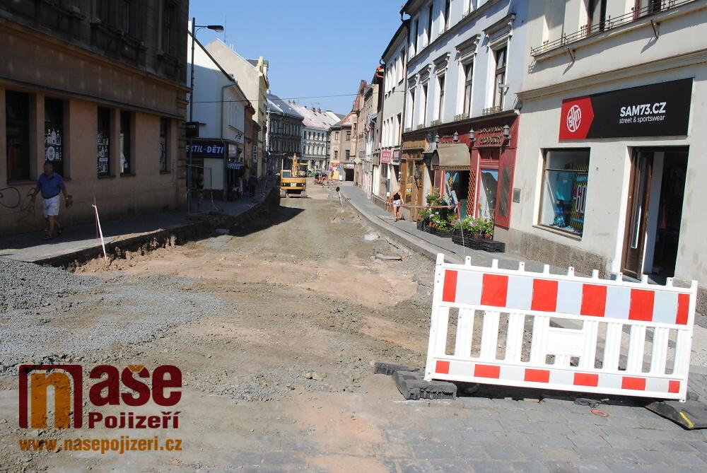 Průběh rekonstrukce Palackého ulice v Turnově v srpnu 2018<br />Autor: Petr Ježek