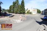 Průběh rekonstrukce Palackého ulice v Turnově v srpnu 2018