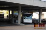 Dopravní terminál v Turnově v dopolední špičce v úterý 4. září 2018