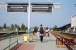 Železniční nádraží v Turnově v dopolední špičce v úterý 4. září 2018