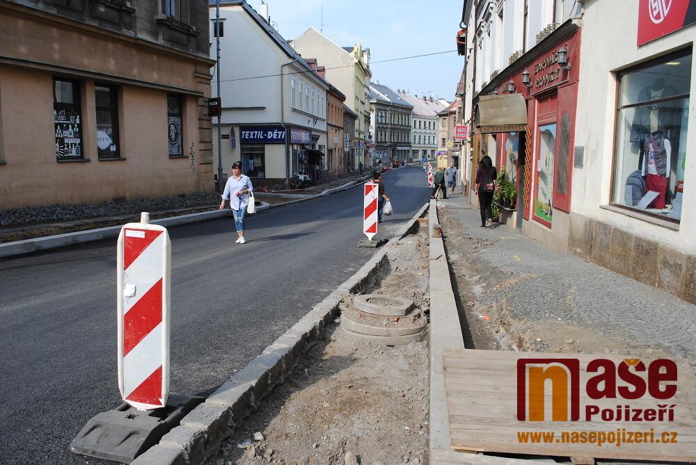 Rekonstrukce Palackého ulice v Turnově na začátku září 2018<br />Autor: Petr Ježek