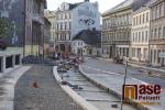 Rekonstrukce Palackého ulice v Turnově na začátku září 2018