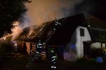 Požár roubeného rodinného domu v Libštátě