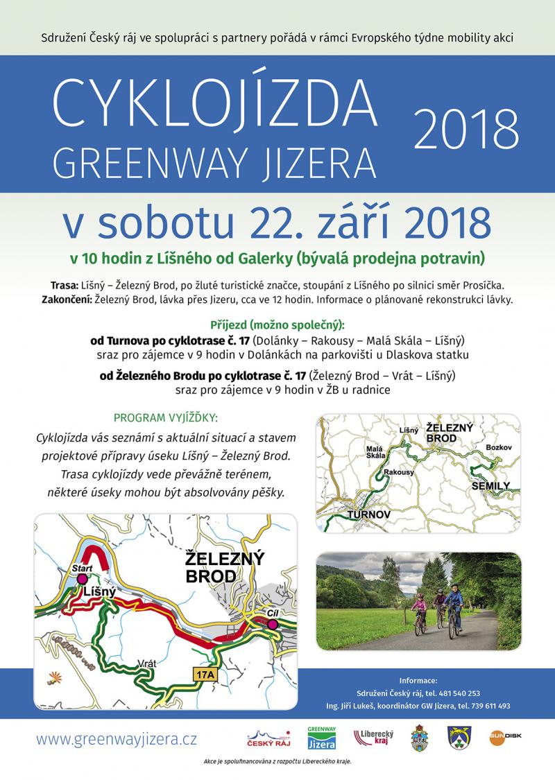 Cyklojízda Greenway Jizera 2018<br />Autor: Archiv Sdružení Český ráj