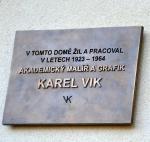 Odhalení pamětní desky Karla Vika