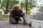 Vyzvednutí historické schránky z pomníku F. L. Riegra v Semilech