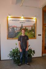 Francouzský student Lucas Brun v Semilech