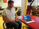 Přístroj pressure mapping, který umí změřit rozložení zatížení sedací a opěrné části vozíku