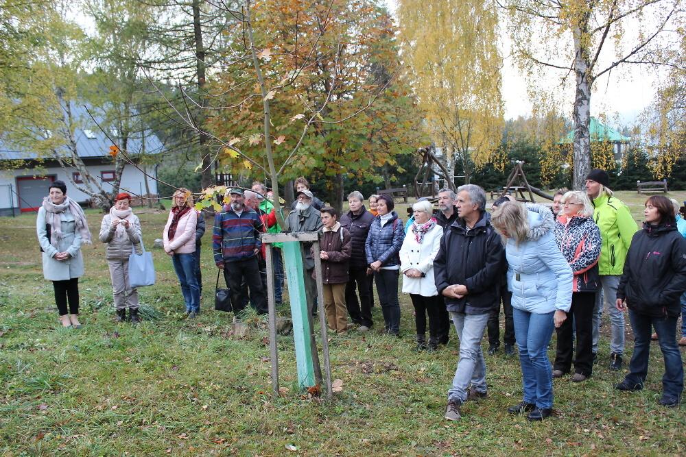 Oslavy 100 let republiky v Harrachově - sázení Stromu svobody<br />Autor: Markéta Novotná