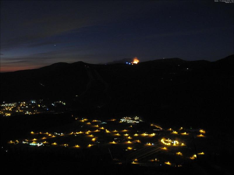 Požár lesa nedaleko Labské boudy v Krkonoších<br />Autor: HZS Královéhradeckého kraje
