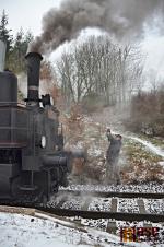 Zastávka parního vlaku na nádraží v Libštátě