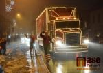 Vánoční kamion na vrchlabském náměstí 2018