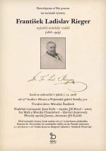 Pozvánka na vernisáž výstavy F. L. Rieger - největší semilský rodák