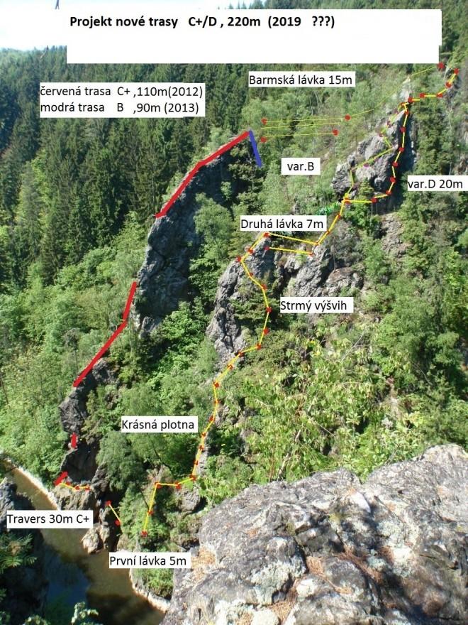 Projekt nové trasy<br />Autor: Archiv Spolek Vodní brána