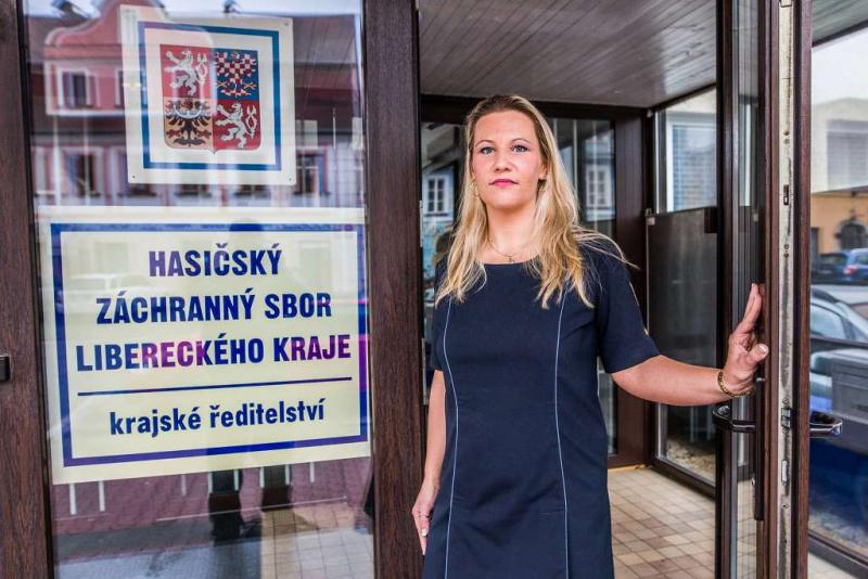 Tisková mluvčí HZS Libereckého kraje Pavlína Bílková<br />Autor: Archiv HZS Libereckého kraje